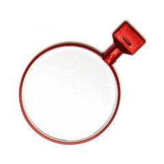 Preskusno steklo s kovinsko obrobo